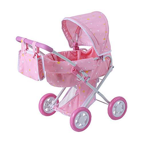 Olivia's Little World Twinkle Stars Deluxe Kinderwagen Puppenwagen Rosa OL-00011