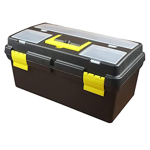 LANGCA Caja de Herramientas, Caja de Herramientas de Gran Capacidad de Tres Capas con Mango, Caja de Almacenamiento de Pintura de plástico portátil, Caja de Herramientas Multiusos