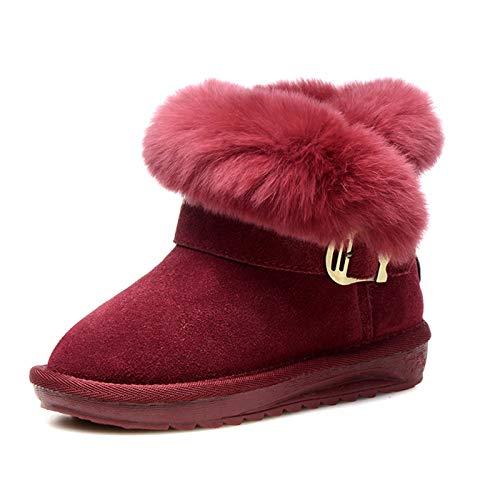 ZHWEI Kind Schneeschuhe Mädchen Verdicken Kind Schuhe Aus Baumwolle Stiefeletten Winter Warme Schuhe Im Freien Rutschfest Winterstiefel