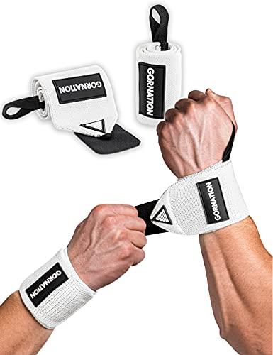 GORNATION®️ Handgelenk-Bandagen   2X Premium Wrist Wraps (Paar) für Fitness, Calisthenics & Bodybuilding   Handgelenk-Stützen   Schutz & Stabilität beim Sport   Links & Rechts