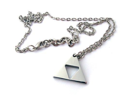 Collar trifuerza The Legend of Zelda –acero inoxidable–hecho a mano–Longitud 45+ 5cm