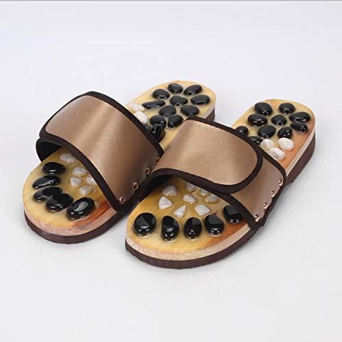 WINNNGOO Stimulierung,Massage Hausschuhe Fußmassage-Khaki_39~40