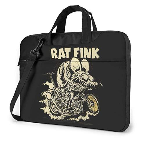 Lsjuee Rat Fink Laptop Schulter Umhängetasche Fall Aktentasche Hülle für 13 Zoll 14 Zoll 15,6 Zoll Laptop-Tasche 13 Zoll