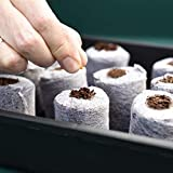 Coir Seed Starter Disks 40mm - 50 Pack - Coco Dots - Peat Free Compost Seed Disks, Compost Plug Pellets for Seed Germination