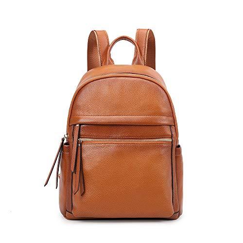 Kattee Damen-Rucksack aus echtem Leder mit Rucksack, Vintage-Stil, für Schule, Reisen, Arbeit, Shopping