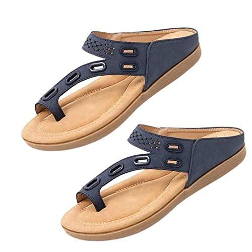 Pantofole Estive Premium Comode e Ortopediche per Donna Dr.Care, Pantofole Estive Premium Comode Ortopediche per Donna, Sandali Antiscivolo con Design a Tre Archi (Blue,38)