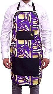 King Midas Barber Apron Unisex Hair Stylist Apron (Purple)