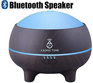 Essential Oil Diffuser Humidifier with Bluetooth Speaker Pure Aromatherapy LED Lights Wood Grain Color Pro Aroma Kit Diffuser- 300ml Cold Water Vent Aroma Diffuser Oil for Home, Kids, Men, Women, Spa