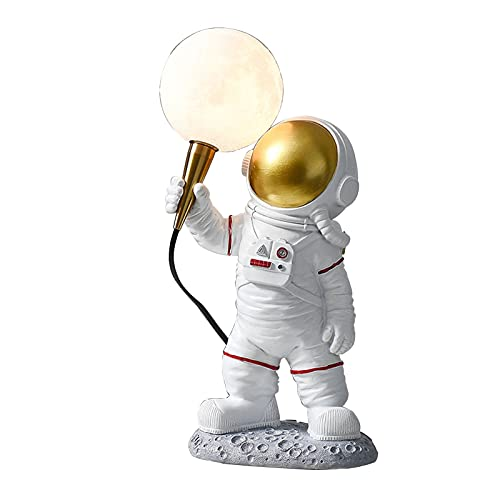 Lámpara de luna de astronauta Luz de noche de luz de luna para niños Regalo para mujeres Lámpara lunar blanca cálida y fría impresa en 3D