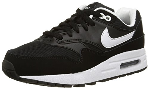 Nike Air MAX 1 (GS), Zapatillas de Trail Running Hombre, Negro (Black/White 001), 40 EU