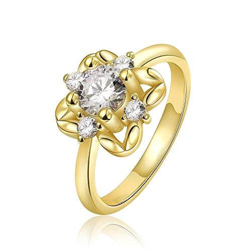 Diamanten Ring Oorbellen Sieraden, goud, 8