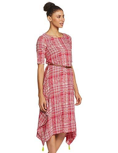 Indigo Rayon Bubble Hem Dress (AW20/IND-1469_Fuchsia_M)