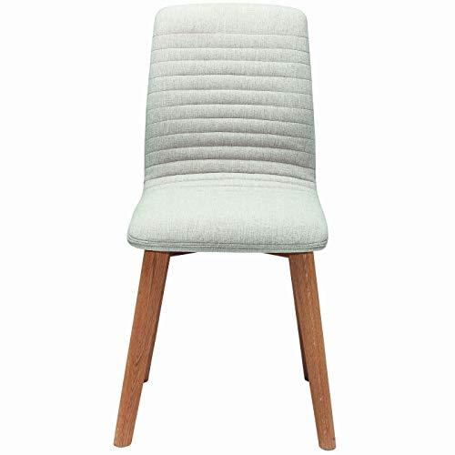 Kare Design - Chaise Design en Tissu écru et en Bois Clair Lara