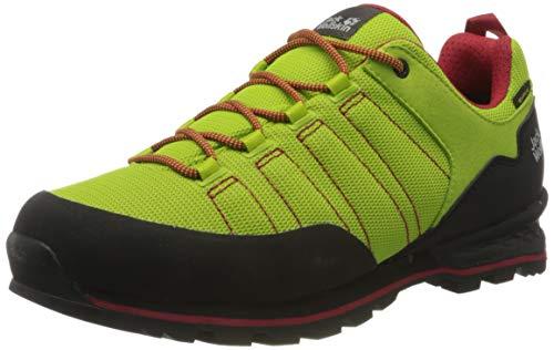 Jack Wolfskin Herren Scrambler LITE Texapore Low M Walking-Schuh, Lime/red, 45 EU