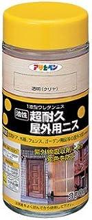 アサヒペン 超耐久屋外用ニス 300ML 透明(クリヤ)