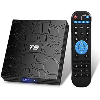 Android 9.0 TV Box T9 TV Box 4GB DDR3 RAM 64GB ROM RK3318 Quad-Core Cortex-A53 64 Bits Bluetooth 4.0 Support 2.4/5.0GHz Dual WiFi 4K 3D Ultra HD H.265