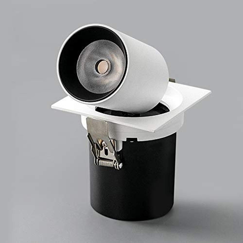 Einziehbare Scheinwerfer 12W Grünieften Downlight quadratische Aluminiumpaneel-Deckenleuchten ultra helle LED hinunter Lampen justierbaren Winkel Innenhaus kommerzielle Beleuchtungs-Befestigungen