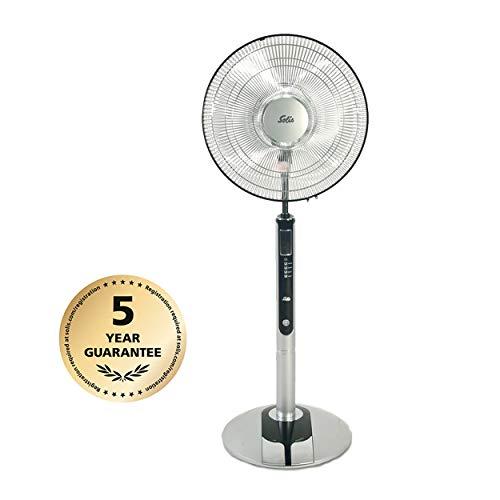 Solis Standventilator mit Komfort-Bedienung, Ionengenerator, Fernbedienung und LCD-Anzeige, 125 cm Höhe, Fan-Tastic (Typ 750)