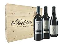 Lo Zoccolaio Cassetta Legno - Vino Rosso - Barbera D'Alba+Langhe Rosso+Barolo 3 Bottiglie x 0.75 litri