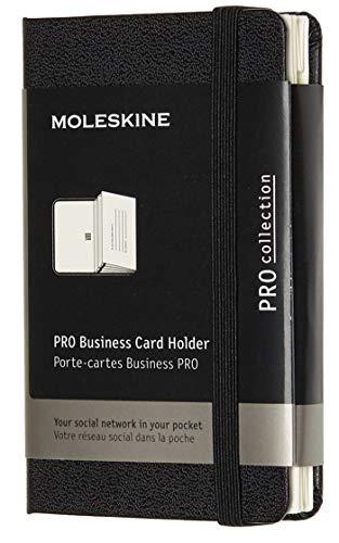 Moleskine Pro Visitenkartenfächer (Xsmall, Hard Cover, 2 Fächer) schwarz