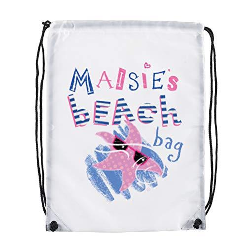 personalisierbar Beach Bag Seestern bebilderte Childs Urlaub Mädchen Jungen