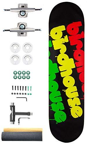 Vogelhuisje Triple Stack Rasta Aangepaste Complete Pro Skateboard Kit - 8.0