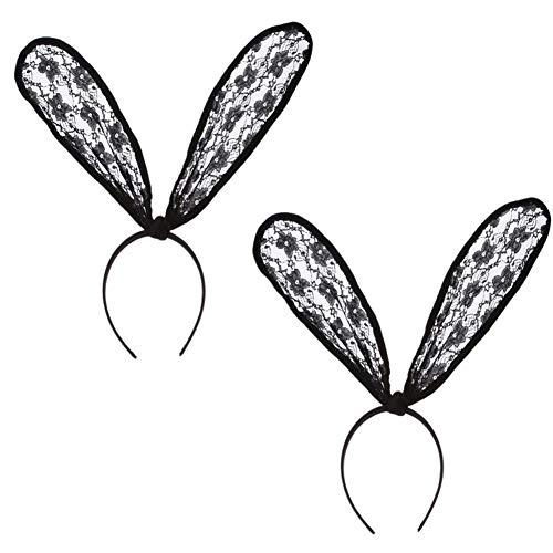 BFORS Kaninchen-Ohr-Haar-Band, Kaninchen-Ohr-Haar-Band-Maskerade und Halloween Party, Mode-Kostüm-Zusatz-Partei-Bevorzugungen (2 Satz)