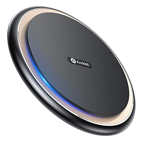 Andobil Boost 15W Fast Wireless Charger, USB-C Qi Charging Pad Station 10W 7.5W Compatible iPhone 11/11 Pro Max/XS MAX/XR/XS/X/8, Samsung Galaxy Note 10/9 S20/S10/S9/S8, LG V40/G7, AirPods Pro