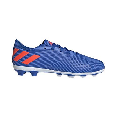 adidas Youth Nemeziz Messi 19.4 FxG J Soccer Shoes Blue/Red/Yellow 13.5