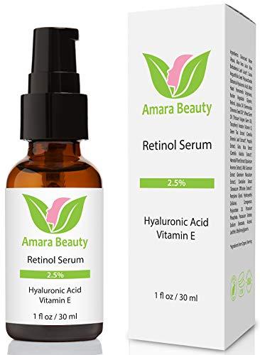 Retinol Sérum 2,5% avec Acide Hyaluronique et Vitamine E - 30 ml