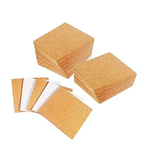 30 Pack Self-Adhesive Cork Squares 4 x 4 Inch Cork Tiles Mini Backing Sheets for Coasters and DIY Crafts
