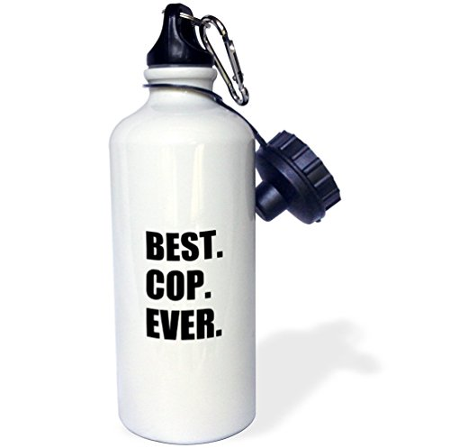 guyeFiy-Best Cop Ever drinkfles aluminium Sports waterfles wit 400ml 600ml