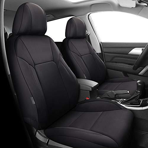 Chemu Coprisedili anteriori per auto, colore nero, set universale per sedile conducente e passeggero con airbag laterale per Toyota Auris Avensis T25 T27 Camry Corolla Hilux RAV4 Yaris 2 3