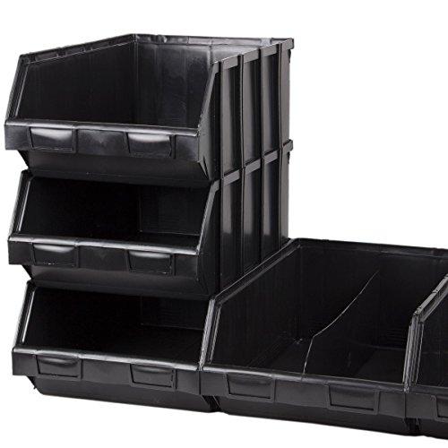4 Stück 23 Liter Regalkiste Lagersichtbehälter Lagerbehälter Sichtlagerkiste Kiste