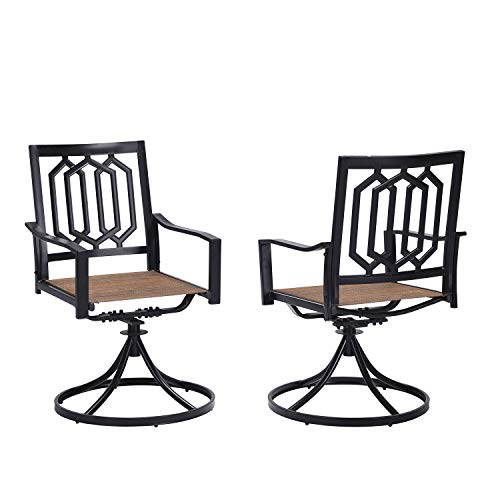 Vicllax Patio Dining Swivel Chairs-Outdoor Swivel Chair Set