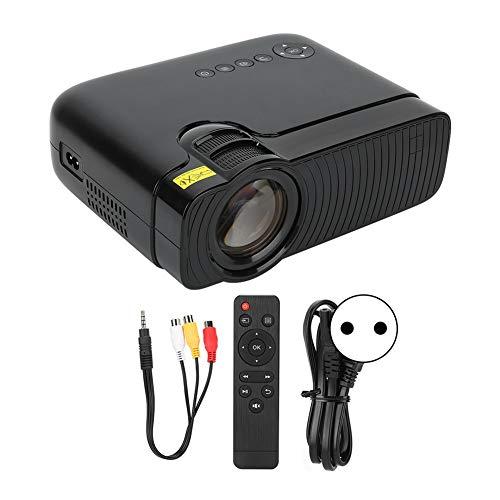 Agatige Proyector Video, Mini Proyector de Película de la Exhibición Portátil HD 1080P del Hogar para el Cine en Casa(Enchufe de la UE)