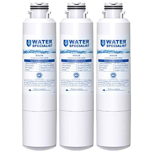 Waterspecialist DA29-00020B Samsung Water Filter for Refrigerator, Replacement for DA29-00020A/B, HAF-CIN/EXP, DA29-00020B-1, RF25HMEDBSR, RF28HMEDBSR, RS25J500DSR&More Models, 3 Carbon Filters