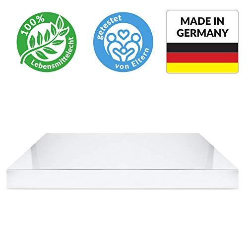 Tischschutz von ATC für Kinder transparent und lebensmittelecht zum Schutz von Ihrem Tisch inkl. Anti-Rutsch Aufkleber 40 x 60cm Made in Germany