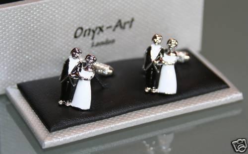 Nouveauté – Boutons de manchette Homme – * * * * * * * * Cadeau de mariage Motif marié/mariée