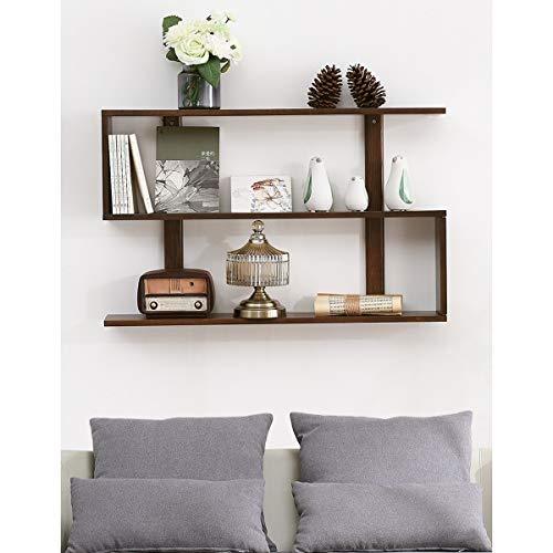 Wandrek, scheidingswand van massief hout, kapstok voor aan de muur, eenvoudig en modern Walnut Color