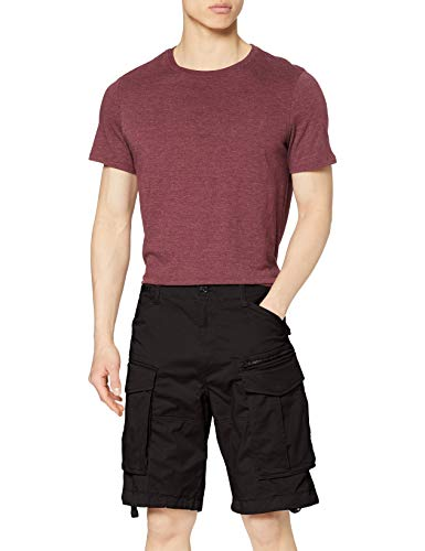 G-STAR RAW Herren Shorts Rovic Zip Relaxed 1/2-Length, Schwarz (Black 990), 33W