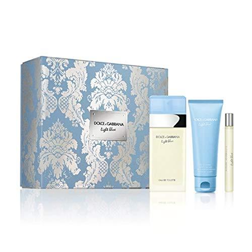 Dolce & Gabbana - Light Blue Set - 100ml EDT + 75ml Body Cream + 10ml EDT Travel-Spray