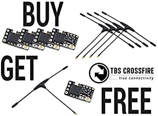 TBS Crossfire Nano Rx (SE) Buy 4 Get 1 Free Bundle Pack (Includes x5 TBS Crossfire Nano Rx's & 5 Immortal T Antennas for The Price of 4)