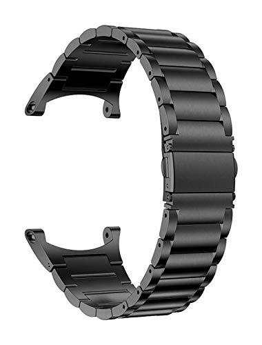 Beapet Reloj Correa de Acero Inoxidable Correa de reemplazo de reemplazo de muñeca de muñeca Pulsera de Banda para Accesorios de Reloj Pulsera (Color : Black)