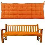 JEMIDI Cojín acolchado para banco de jardín, 120 x 40 x 4 cm, diseño de mandarina