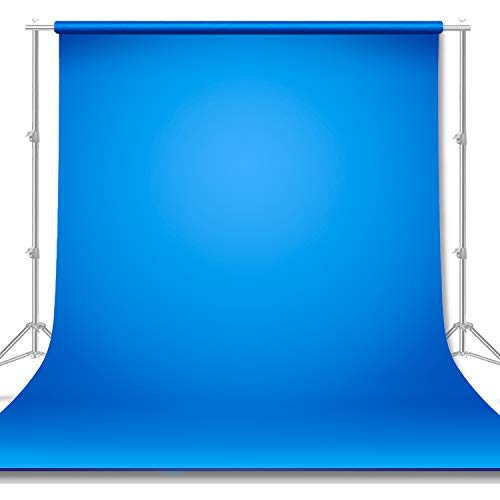 Limo Studio 10 x 20 ft. Photo Video Studio Seamless Solid Blue Muslin Backdrop Photo Studio Background for Photo Video Shooting, AGG2978