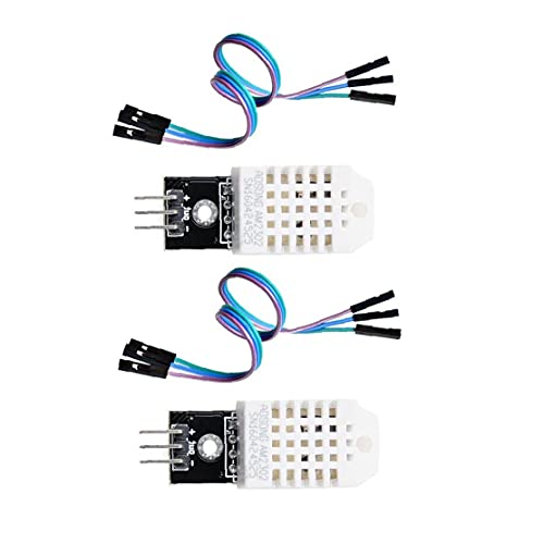 DHT22 Digital Temperature Humidity Sensor Module Monitor Replace SHT11 SHT15 for Arduino Electronic Practice DIY 2PCS Digital Temperature Humidity Sensor Module