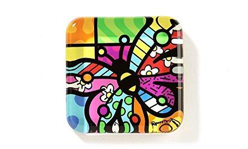 Romero Britto *New* Glass Paper Weight- Butterfly Design by Romero Britto