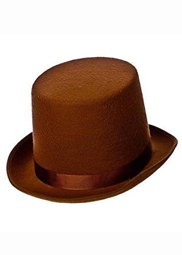 Adulte Déguisements victorienne marron chapeau haut de forme