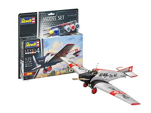 Revell 63870 Model Set Junkers F.13 - Maqueta de Barco Junkers F.13 con Accesorios básicos (sin lacar)